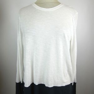 Vince Tops - Vince White Navy long sleeve top women's Size L